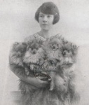 Ofleda Pomeranians and their owner Mrs Stan Parsons.